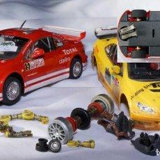 Slot Cars: PEUGEOT 307 NINCO+CARROCERÍA+REGALO ESTÁTICO 1/43 Y COMPLEMENTOS. Lote 262572765