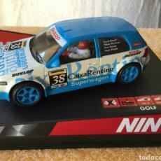 Slot Cars: NINCO VOLKSWAGEN GOLF CAIXA RENTING REF. 50244. Lote 80044046