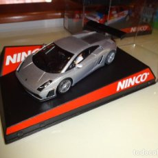 Slot Cars: NINCO. LAMBORGHINI GALLARDO ROAD CAR PLATA. REF. 50448. Lote 100311439