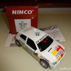 Slot Cars: NINCO. RENAULT CLIO BLANCO 16V. REF. 50101. Lote 107112251