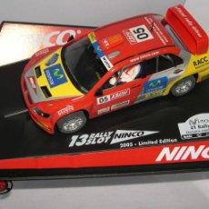 Slot Cars: MITSUBISHI LANCER WRC RALLYE CATALUÑA 05 ED PILOTOS. Lote 47144320