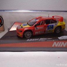 Slot Cars: NINCO MITSUBISHI LANCER WRC CATALUNYA-COSTA DUARADA REF. 50401 OFFICIAL RALLY DRIVER. Lote 112472815
