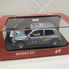 Slot Cars: SLOT NINCO RENAULT CLIO 16V RALLY PLATA. Lote 118875179