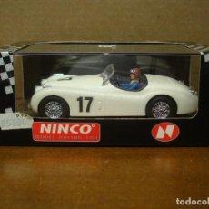 Slot Cars: NINCO JAGUAR XK-120 MARFIL REF-50159 NUEVO CON SU CAJA ORIGINAL. Lote 119250363