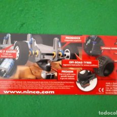 Slot Cars: FLYER / FOLLETO URNAS NINCO RAID. Lote 132660150