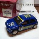 Slot Cars: NINCO RENAULT CLIO 16 V. AZUL R.A.C.C. 1994 REF. 50108 (NUEVO A ESTRENAR). Lote 134329538