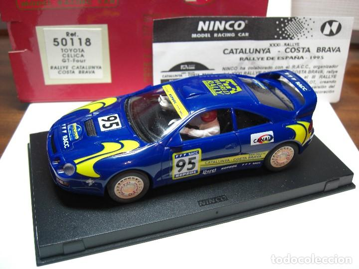 NINCO TOYOTA CELICA GT FOUR. AZUL R.A.C.C. 1995 REF. 50118 (NUEVO A ESTRENAR) (Juguetes - Slot Cars - Ninco)