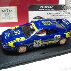 Slot Cars: NINCO TOYOTA CELICA GT FOUR. AZUL R.A.C.C. 1995 REF. 50118 (NUEVO A ESTRENAR). Lote 134330178