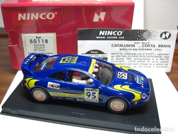 Slot Cars: NINCO TOYOTA CELICA GT Four. Azul R.A.C.C. 1995 Ref. 50118 (Nuevo a estrenar) - Foto 2 - 134330178