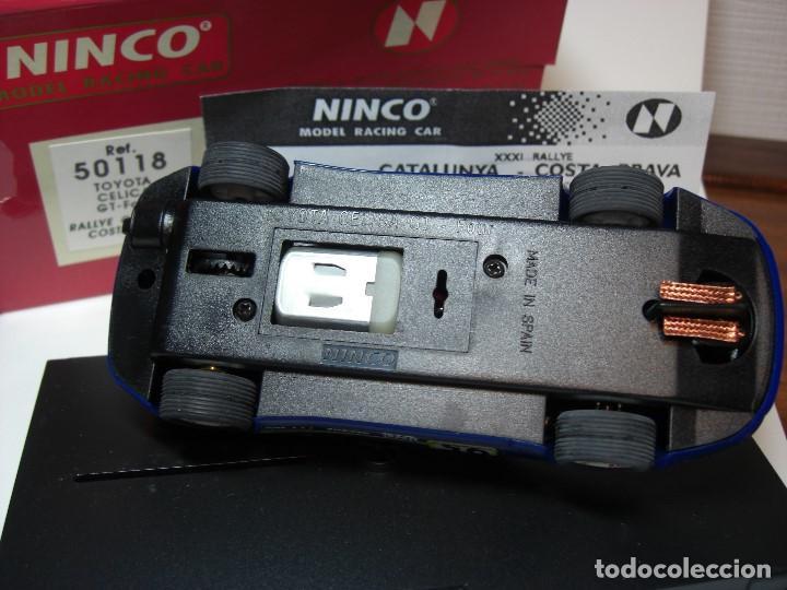 Slot Cars: NINCO TOYOTA CELICA GT Four. Azul R.A.C.C. 1995 Ref. 50118 (Nuevo a estrenar) - Foto 3 - 134330178