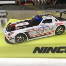 Slot Cars: NINCO 50578 SLOT CAR MERCEDES SLS GT3 #4 VIAGE LIGHTNING MB REF. 50578 A ESTRENAR. Lote 134788866