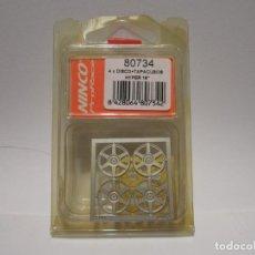 Slot Cars: DISCOS Y TAPACUBOS PRORACE NINCO NUEVOS. Lote 135532446