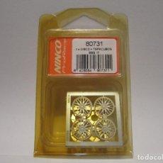 Slot Cars: DISCOS Y TAPACUBOS PRORACE NINCO NUEVOS. Lote 135532698