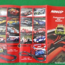 Slot Cars: FLYERS / FOLLETO PROFESSIONAL SLOT SYSTEM – NINCO. Lote 136197586