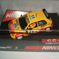 Slot Cars: CITROEN SAXO RACC DE NINCO REF.-50266. Lote 139883242