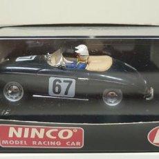 Slot Cars: J- PORSCHE 356 A SPEEDSTER SCALEXTRIC NINCO REF 50126 NEGRO . Lote 141873506
