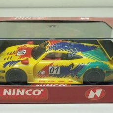 Slot Cars: J4-PORSCHE 911 GT1 ROHR REF 50164 NINCO SLOT CAR. Lote 143621506