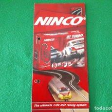 Slot Cars: FOLLETO NINCO CIRCUITOS Y TRAMOS PISTAS – TROQUELADO. Lote 144126266
