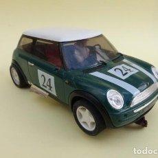 Slot Cars: MINI COOPER, DE SCALEXTRIC,,,COMPLETO, FALTAN LOS RETROVISORES.. Lote 147047750