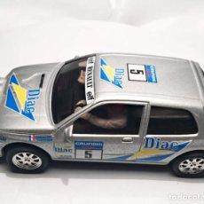 Slot Cars: RENAULT CLIO GRIS DIAC NUMERO 5 REF: 50103 . Lote 151559598