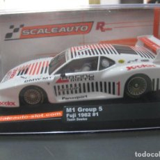 Slot Cars: BLACK FRIDAY - - BMW M1 GRUPO 5 TEAM SEELEX R SERIES DE SCALEAUTO. Lote 222252410
