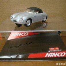 Slot Cars: NINCO PORSCHE 356-A SPEEDSTER SILVER REF 50237 NUEVO CON SU CAJA ORIGINAL. Lote 161543226