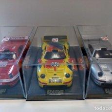 Slot Cars: LOTE TRES PORSCHE 911 NUEVOS. Lote 161894650