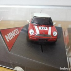 Slot Cars: COCHE SCALEXTRIC NINCO MINI COOPER Nº18 2003. Lote 166957824