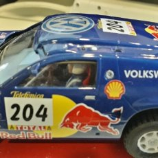 Slot Cars: SCALEXTRIC NINCO VOLKSWAGEN TOUAREG DAKAR 2004 KLEINSCHMIDT PONS EN CAJA. Lote 169593412