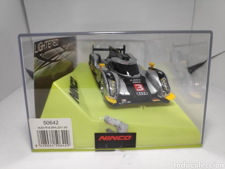 Slot Cars: NINCO AUDI R18 SPA 2011 N°3 LIGHTENED REF. 50642 - Foto 2 - 182664473