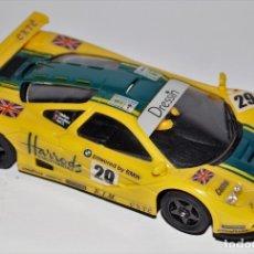 Slot Cars: NINCO MCLAREN F1 GTR HARRODS REF: 50130 COMO NUEVO EN CAJA. Lote 175069662