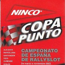 Slot Cars: CATALOGO NINCO COPA PUNTO. Lote 175682910