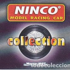 Slot Cars: CATALOGO NINCO COLLECTION MARZO 1997. Lote 175784235