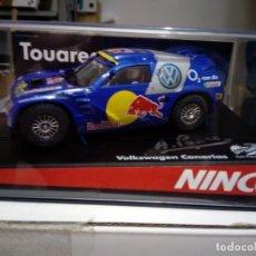 Slot Cars: NINCO 50380 VOLKSWAGEN TOUAREG RALLYE SLOT TOÑI PONCE 2006 ED LIM 240 UNIDADES. Lote 168000944