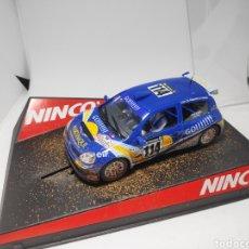Slot Cars: RENAULT CLIO SUPER 1600 GO BARRO NINCO REF. 50313. Lote 177056620