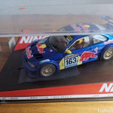 Slot Cars: COCHE SCALEXTRIC DE NINCO BMW M3 GTR RED BULL REF. 50350. Lote 177184070