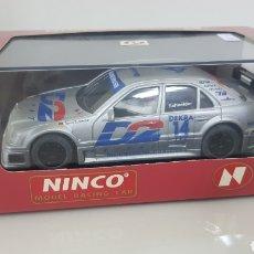 Slot Cars: SCALEXTRIC MODEL RACING CAR NINCO MERCEDES PLATEADO DE BERN SCHNEIDER. Lote 178023440