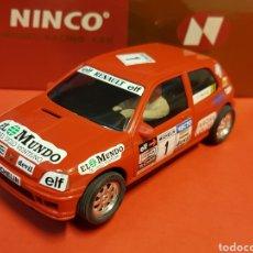 Slot Cars: RENAULT CLIO ROJO EL MUNDO NINCO. Lote 178633630