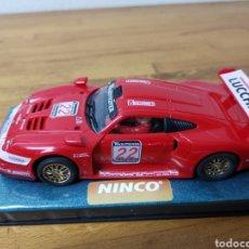 Slot Cars: COCHE SCALEXTRIC DE NINCO PORSCHE 911 GT1 LUCCHINI. Lote 182079617