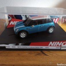 Slot Cars: COCHE SCALEXTRIC DE NINCO MINI COOPER STARS & STRIPES 2003 REF. 50302. Lote 182380397