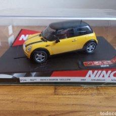 Slot Cars: COCHE SCALEXTRIC DE NINCO MINI COOPER YELLOW REF. 50277. Lote 182647660