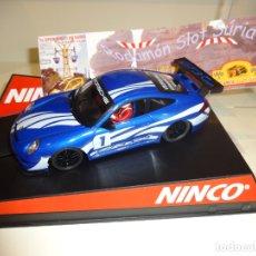 Slot Cars: NINCO. PORSCHE 911 - 997 AZUL. ED.LTA. RODAMON. VII OPEN NINCO 2012. Lote 182749350