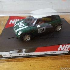 Slot Cars: COCHE SCALEXTRIC DE NINCO MINI COOPER VERDE SIN REFERENCIA NUEVO. Lote 183415502