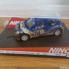 Slot Cars: COCHE SCALEXTRIC DE NINCO RENAULT CLIO S1600 BARRO GO REF. 50313. Lote 184644790