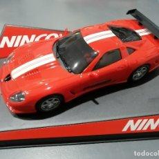 Slot Cars: 50222 - CALLAWAY C12 ROJO CON MOTOR NC-5 SPPEDER DE NINCO. Lote 184899702