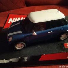Slot Cars: MINI COOPER NINCO BLUE AZUL COMPATIBLE SCALEXTRIC CARRERA SLOT EXIN. Lote 186351783