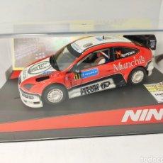 Slot Cars: NINCO FORD FOCUS WRC MUNCHIS 07 OPEN CATALUNYA 2008 LLUM LLAMP SLOT REF. 50469. Lote 193386172