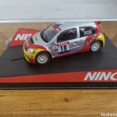 Slot Cars: COCHE SCALEXTRIC DE NINCO RENAULT CLIO S1600 AGRAFE REF. 50337 Nº18. Lote 196635890