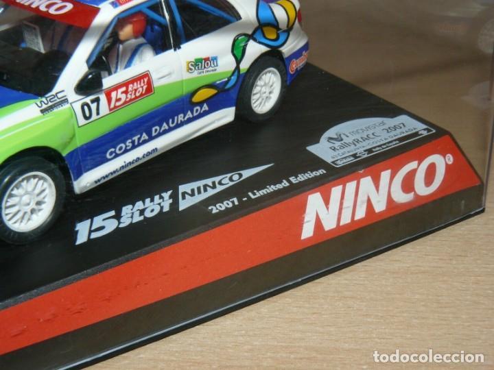 Slot Cars: Scalextric NINCO 15 Rally Slot 2007 Ltd. Edit. COCHE SUBARU WRC Cat-C.Daurada Movistar CAR - Foto 2 - 198323810