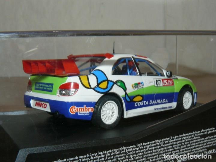 Slot Cars: Scalextric NINCO 15 Rally Slot 2007 Ltd. Edit. COCHE SUBARU WRC Cat-C.Daurada Movistar CAR - Foto 3 - 198323810